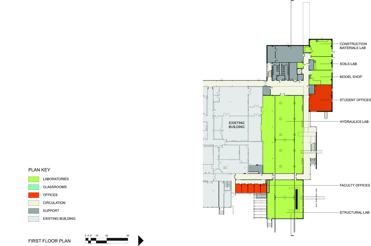 The University of Minnesota Duluth's Swenson Civil Engineering Building Plan by Ross Barney Architects