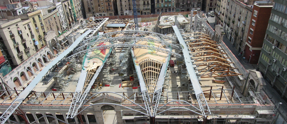 Barcelona Santa Caterina Market roof construction