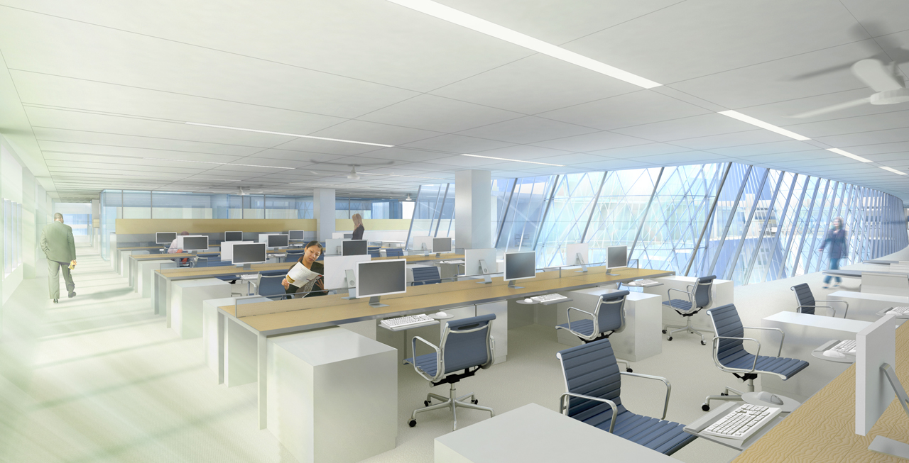 green eco office building interiors natural light. hok process zero concept building credit hokvanderweil green eco office interiors natural light