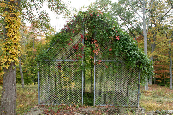 The Ghost House at architect Philip Johnson's iconic Glass House estate.