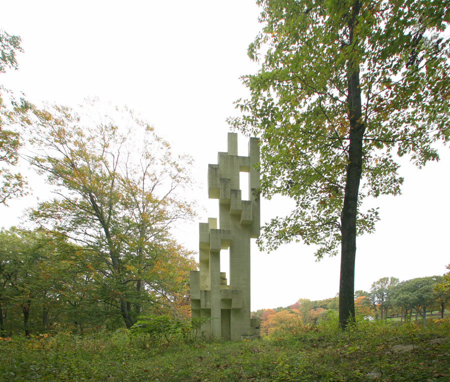 The Kirstein Tower at architect Philip Johnson's iconic Glass House estate.
