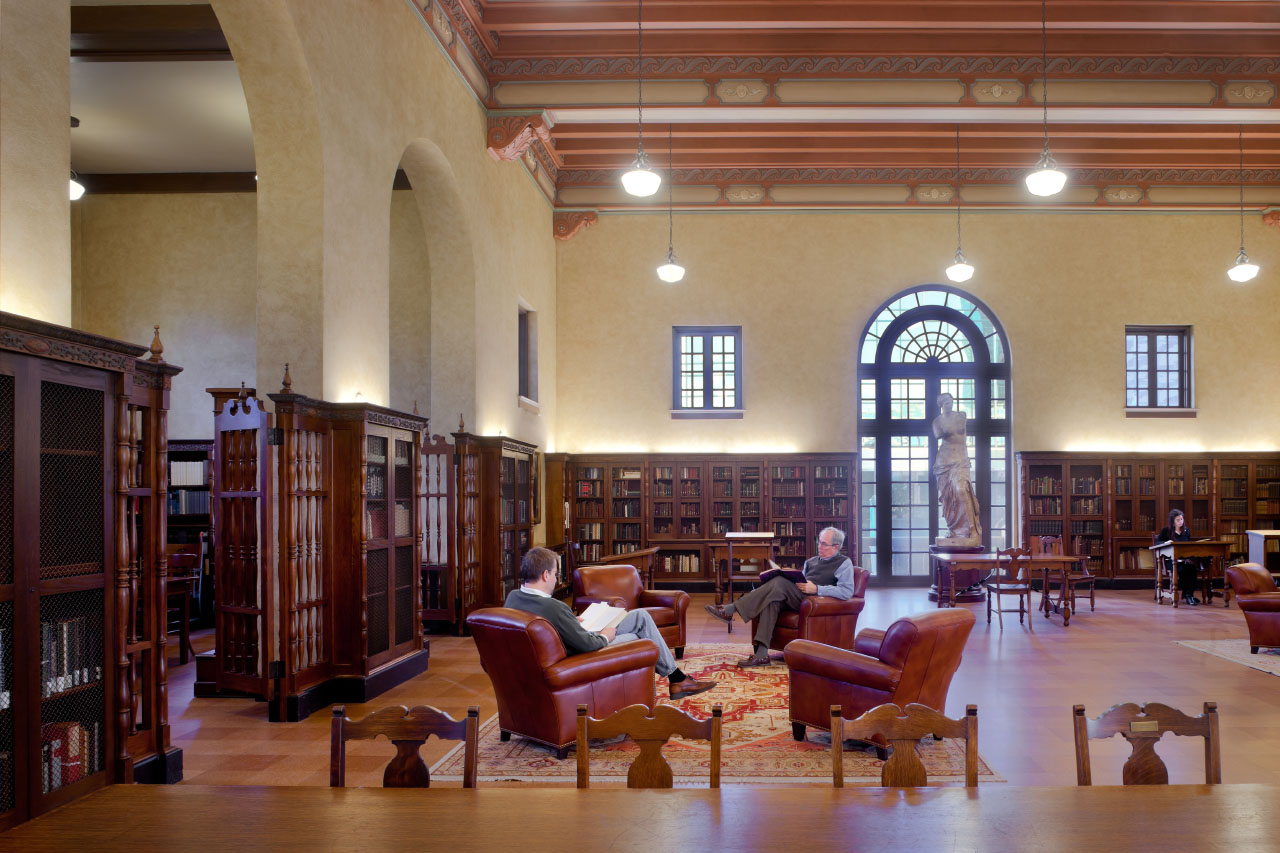 The Julia Ideson building reading room