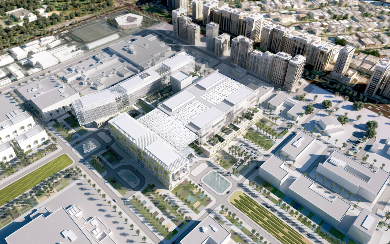 Sheikh Kahlifa Medical City Aerial rendering