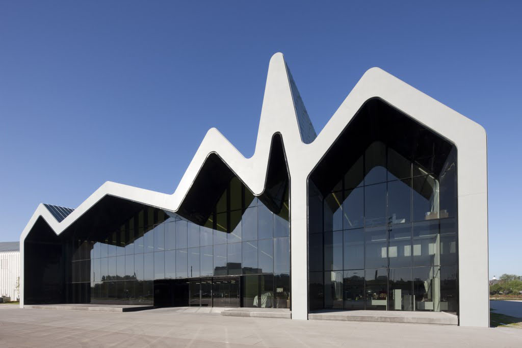 case study zaha hadid architects riverside museum of transport and travel part 1 buildipedia. Black Bedroom Furniture Sets. Home Design Ideas