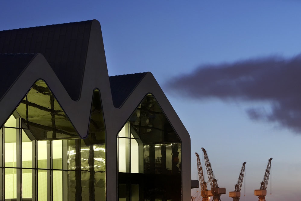Zaha Hadid Architects' Riverside Museum of Transport and Travel exterior