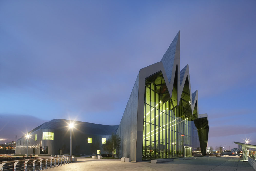 Zaha Hadid Architects' Riverside Museum of Transport and Travel Completed