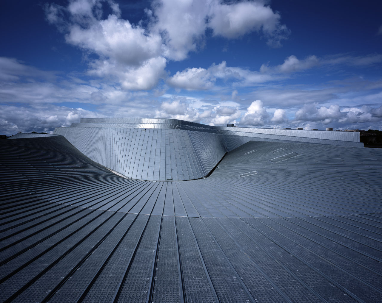 Zaha Hadid Architects' Riverside Museum of Transport and Travel Completed Roof