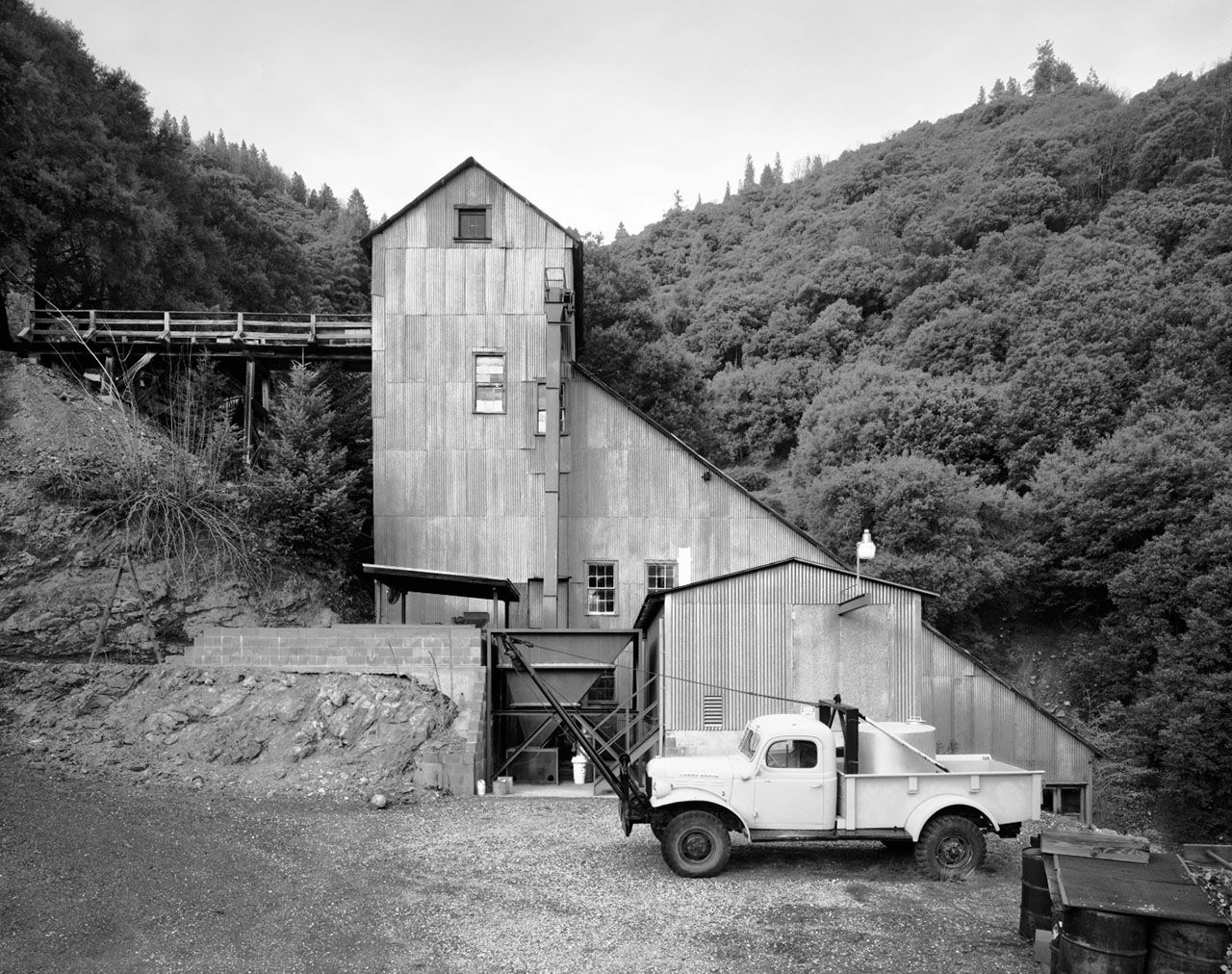 Oriental Mine Stamp Mill near Alleghany, from David Stark Wilson's photography book Structures of Utility