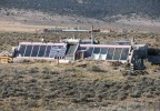 Earthship homes (by Earthship Biotecture) in New Mexico