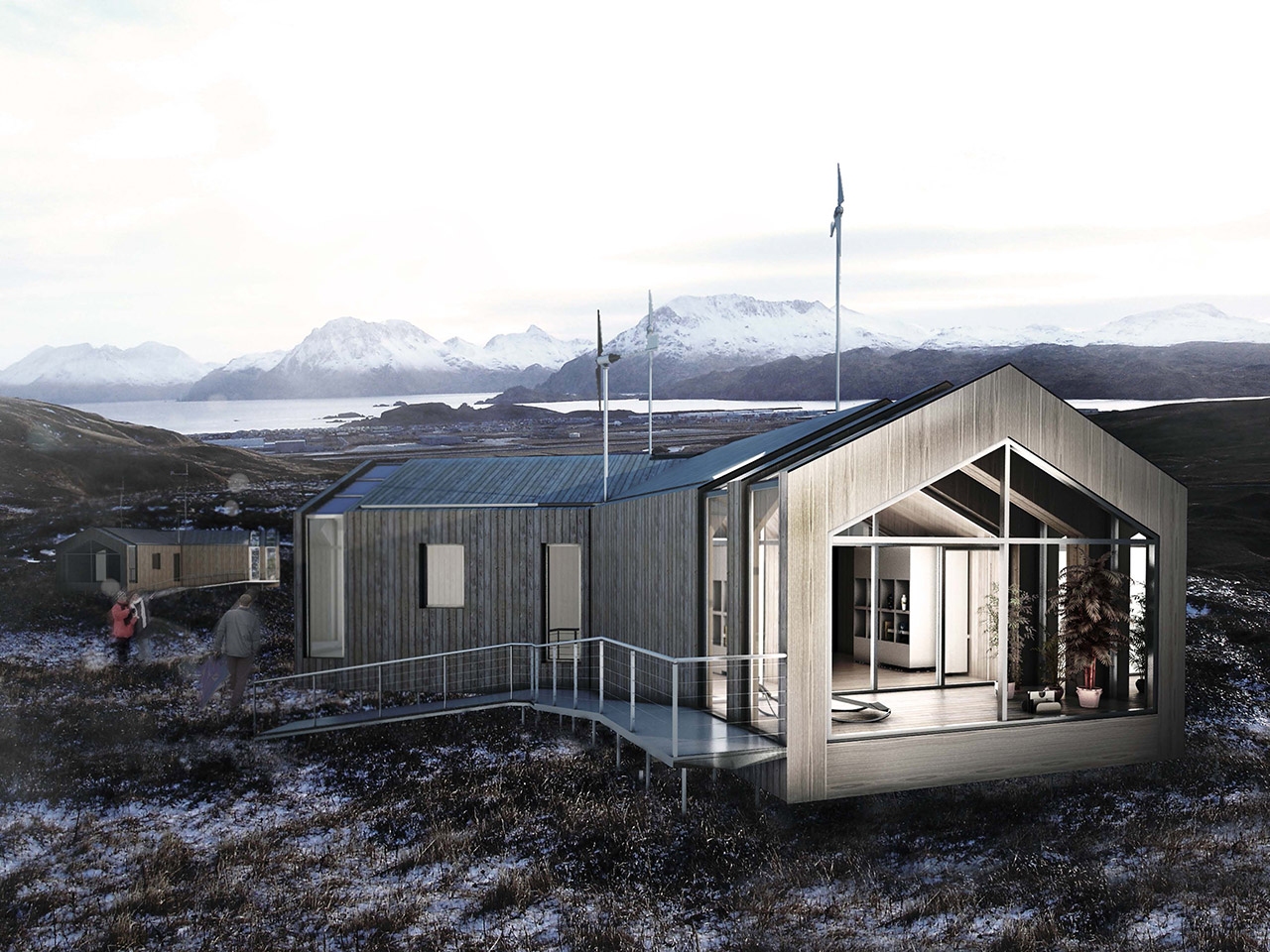 24Studio's Honorable Mention for the Living Aleutian Home Design Competition 2012