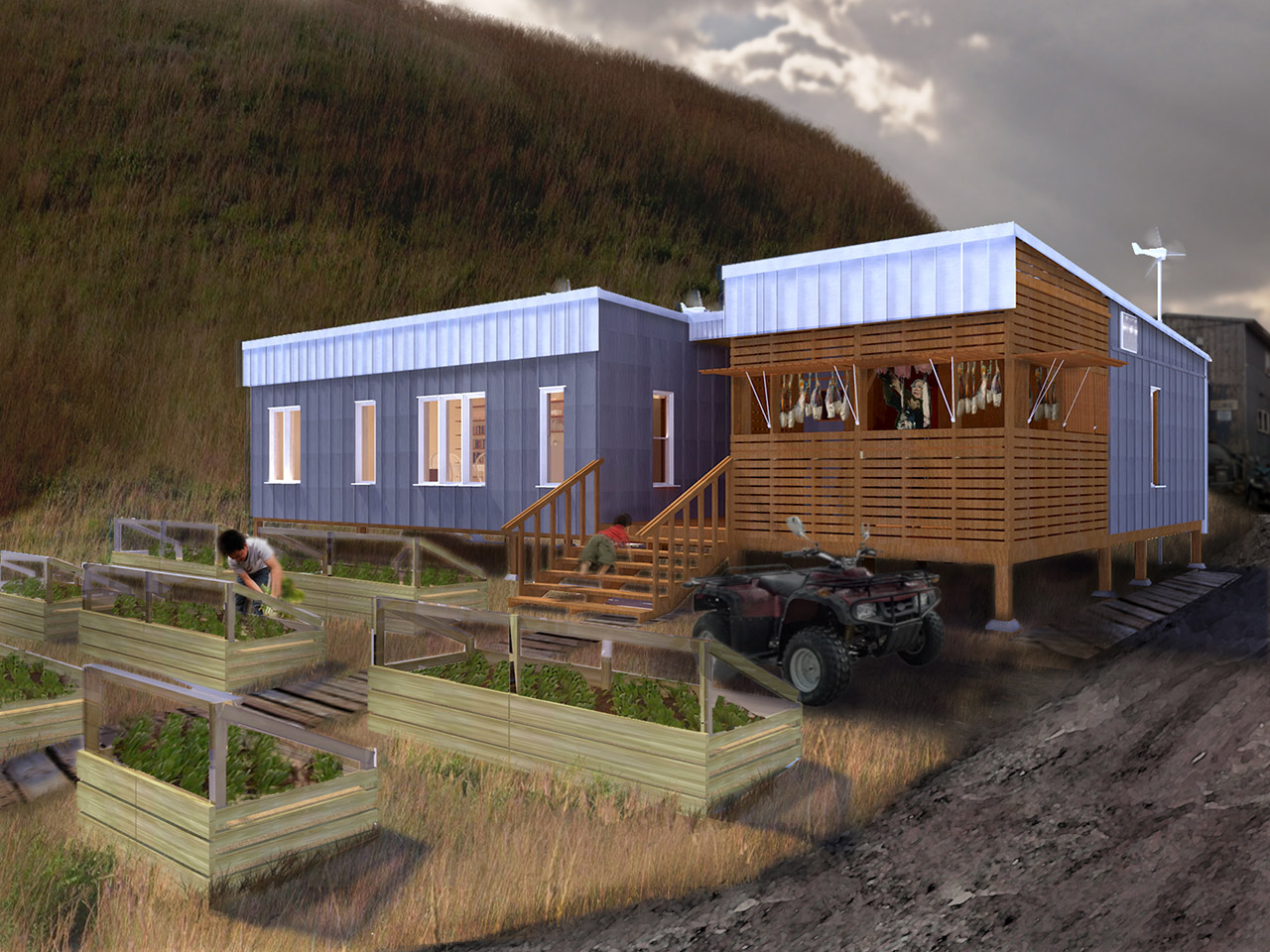 Belknap and Swain - House for a Windy Island, second place in the Living Aleutian Home Design Competition 2012