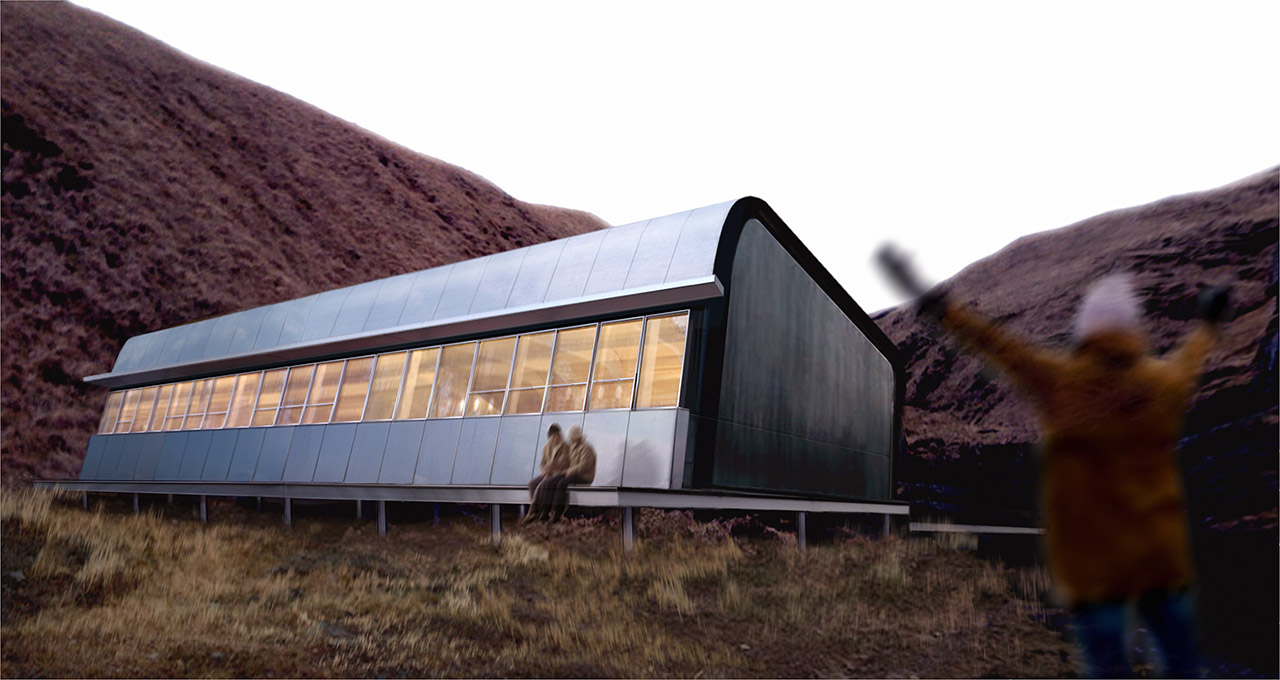 Exterior of Finnesko 13 by Taller Abierto, winner of the Living Aleutian Home Design Competition 2012