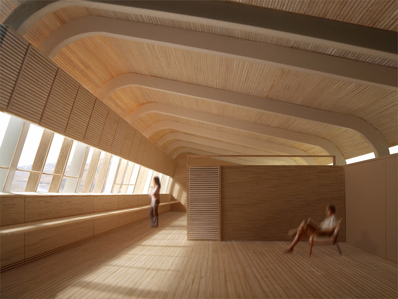 Interior of Finnesko 13 by Taller Abierto, winner of the Living Aleutian Home Design Competition 2012
