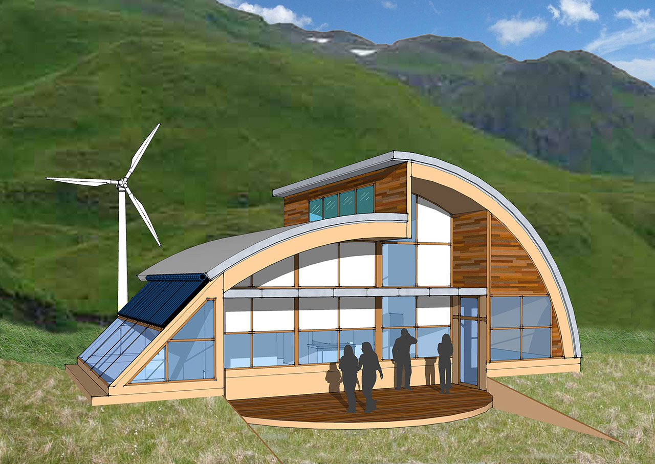 Janus Welton's Orca House, tied for third place in the Living Aleutian Home Design Competition 2012