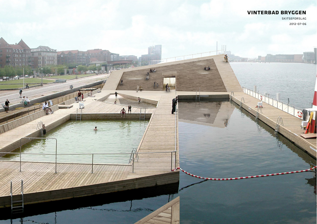Big 39 s winter bath in copenhagen harbor cold water hot for Arquitectura and design