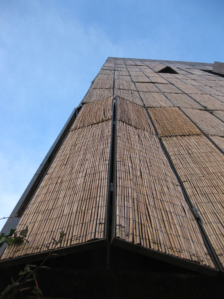 The bamboo louvers on the Carabanchel Social Housing by Foreign Office Architects (FOA)