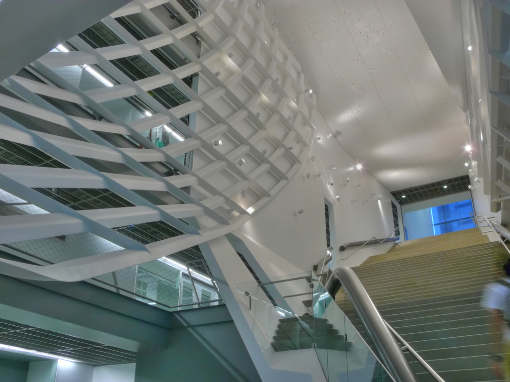 Stairs inside the Cooper Union for the Advancement of Science and Art in New York City by Morphosis Architects