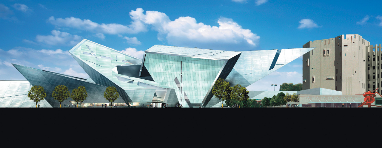Exterior rendering of The Denver Art Museum by Daniel Libeskind