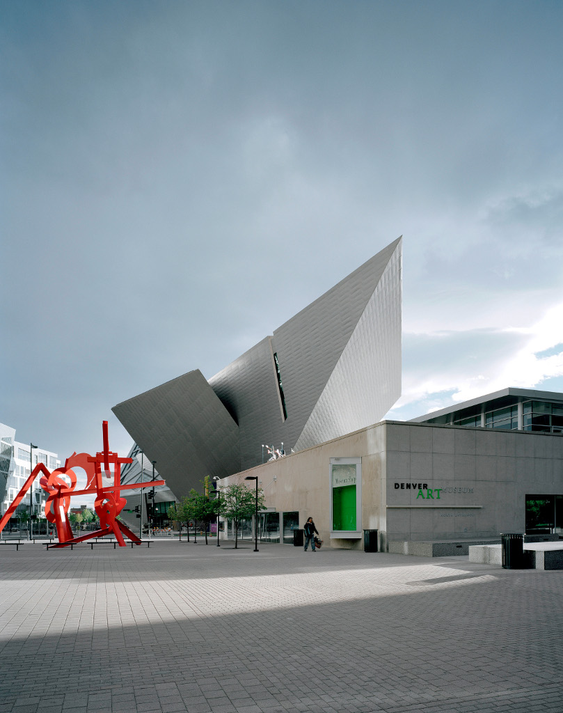 Denver Art Museum and Museum Residences in background by Daniel Libeskind