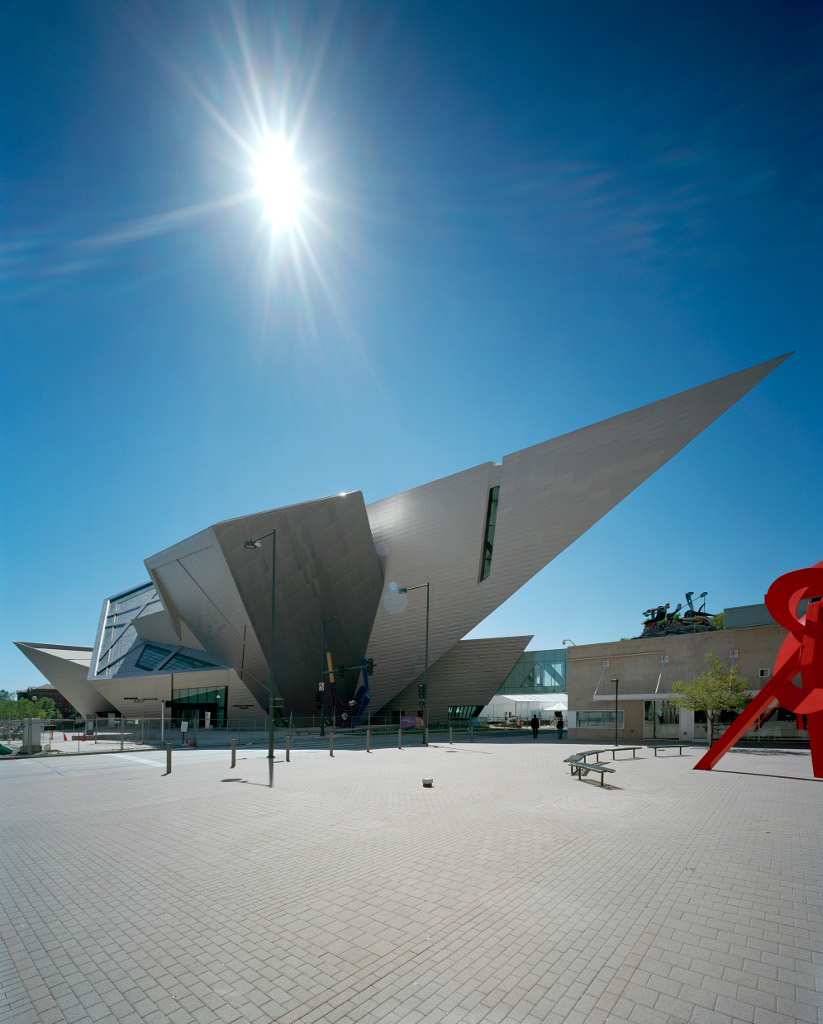 The Denver Art Museum layout by Daniel Libeskind