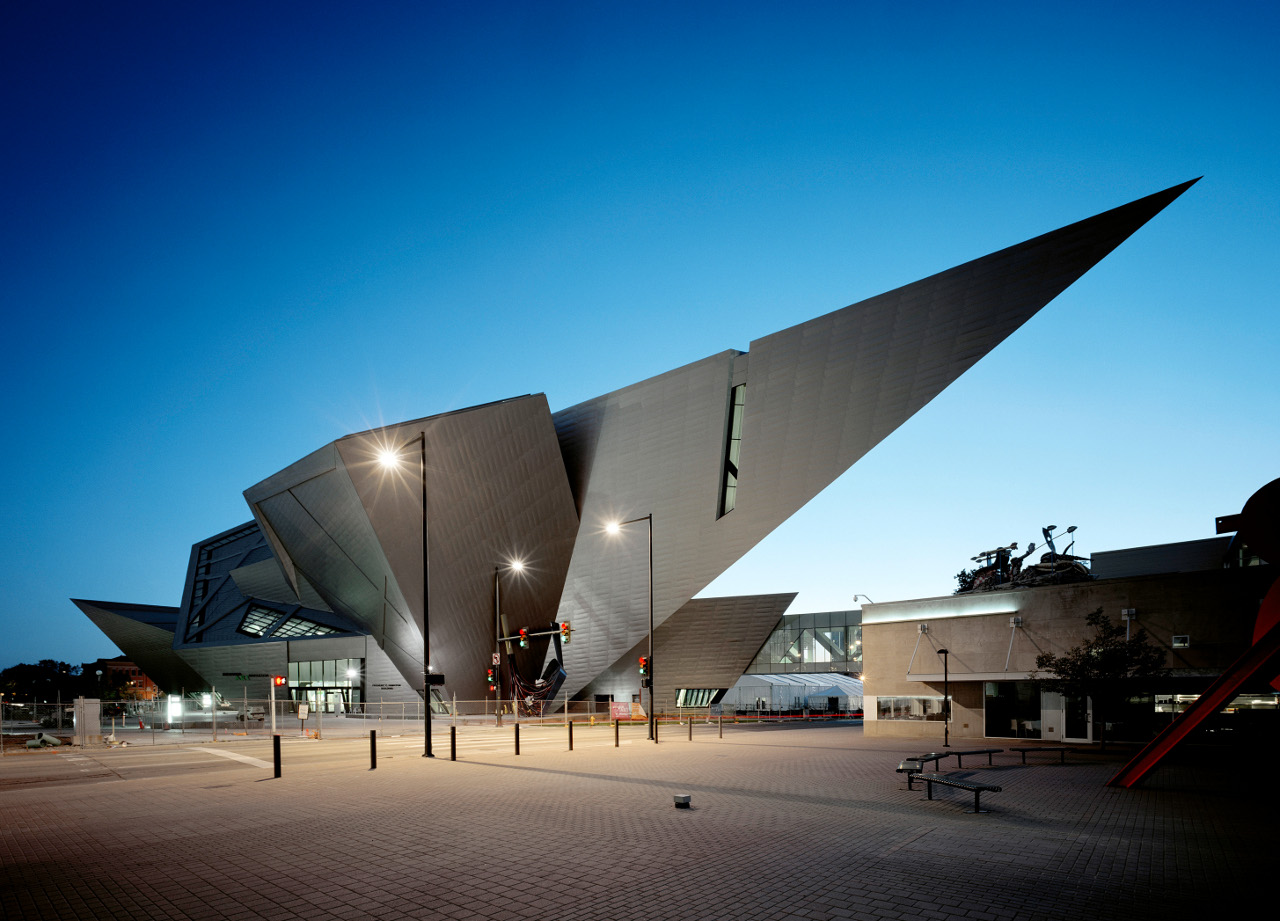 Cantilever of The Denver Art Museum layout by Daniel Libeskind
