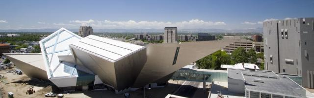 Panoramic of The Denver Art Museum by Daniel Libeskind