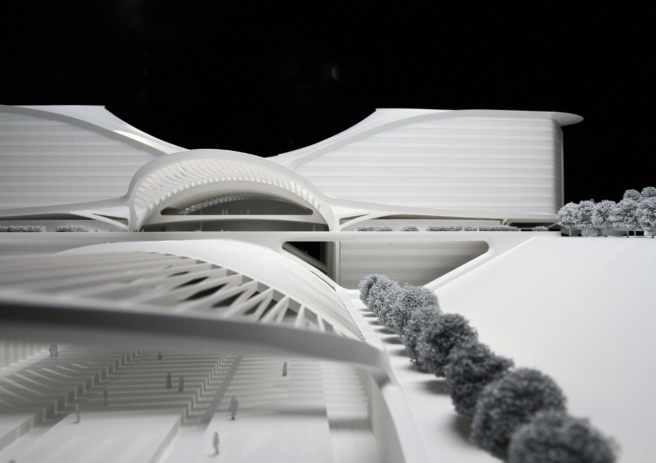 Santiago Calatrava's Denver International Airport Terminal project model