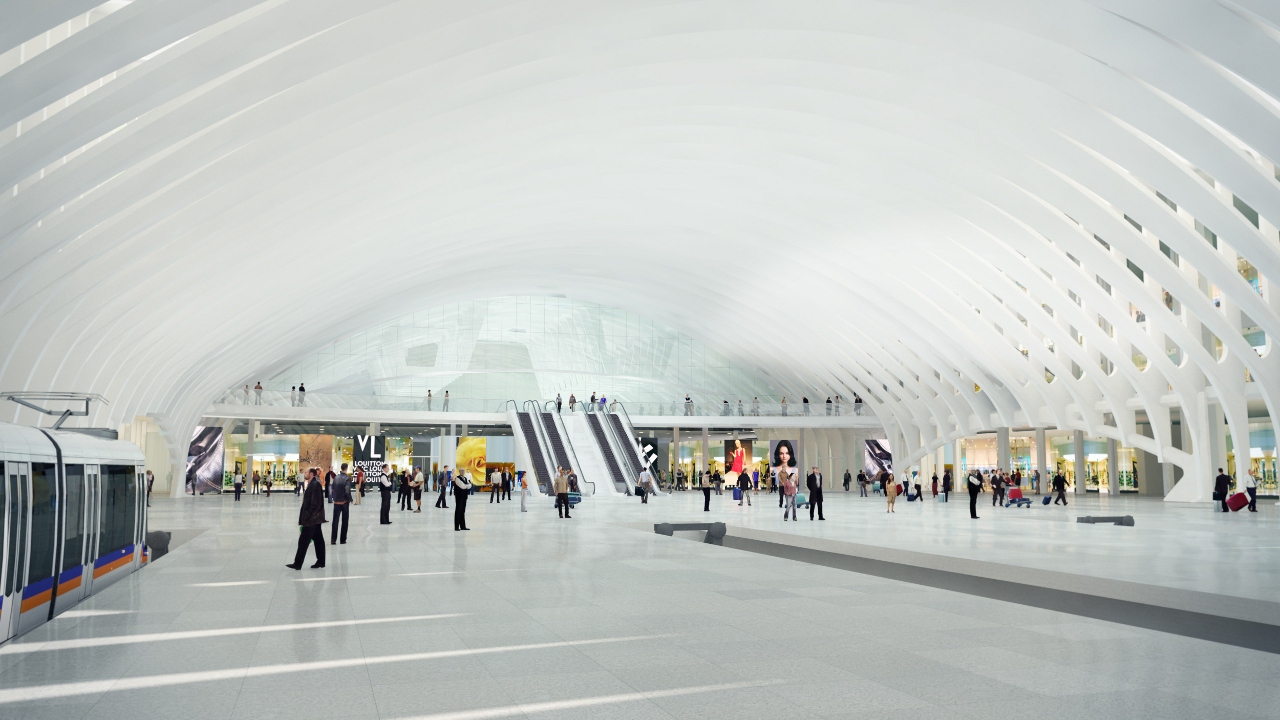 Santiago Calatrava's Denver International Airport Terminal interior rendering