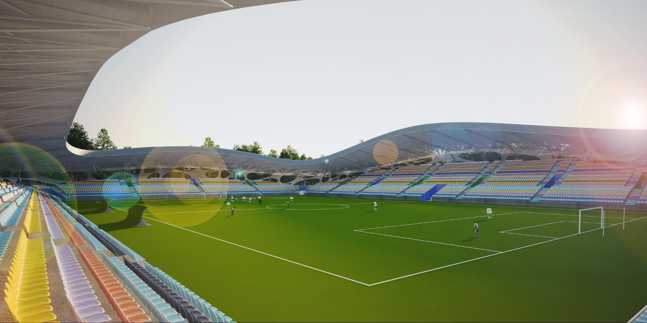 a spectator sport fc bate borisov stadium by ofis arhitekti buildipedia. Black Bedroom Furniture Sets. Home Design Ideas