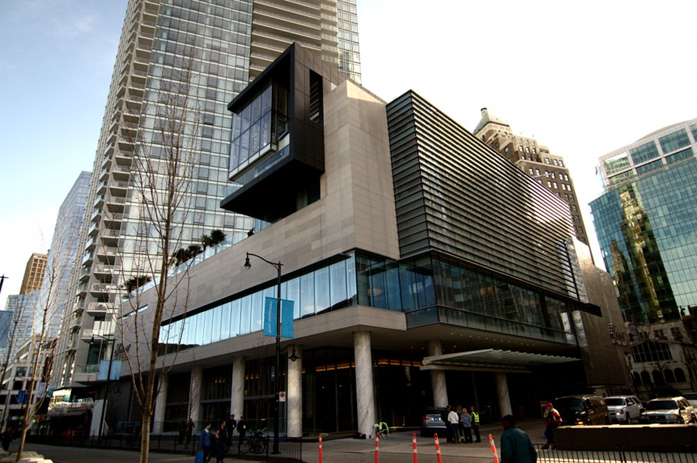 exterior of Vancouver's Fairmont Pacific Rim Hotel designed by architect James Cheng