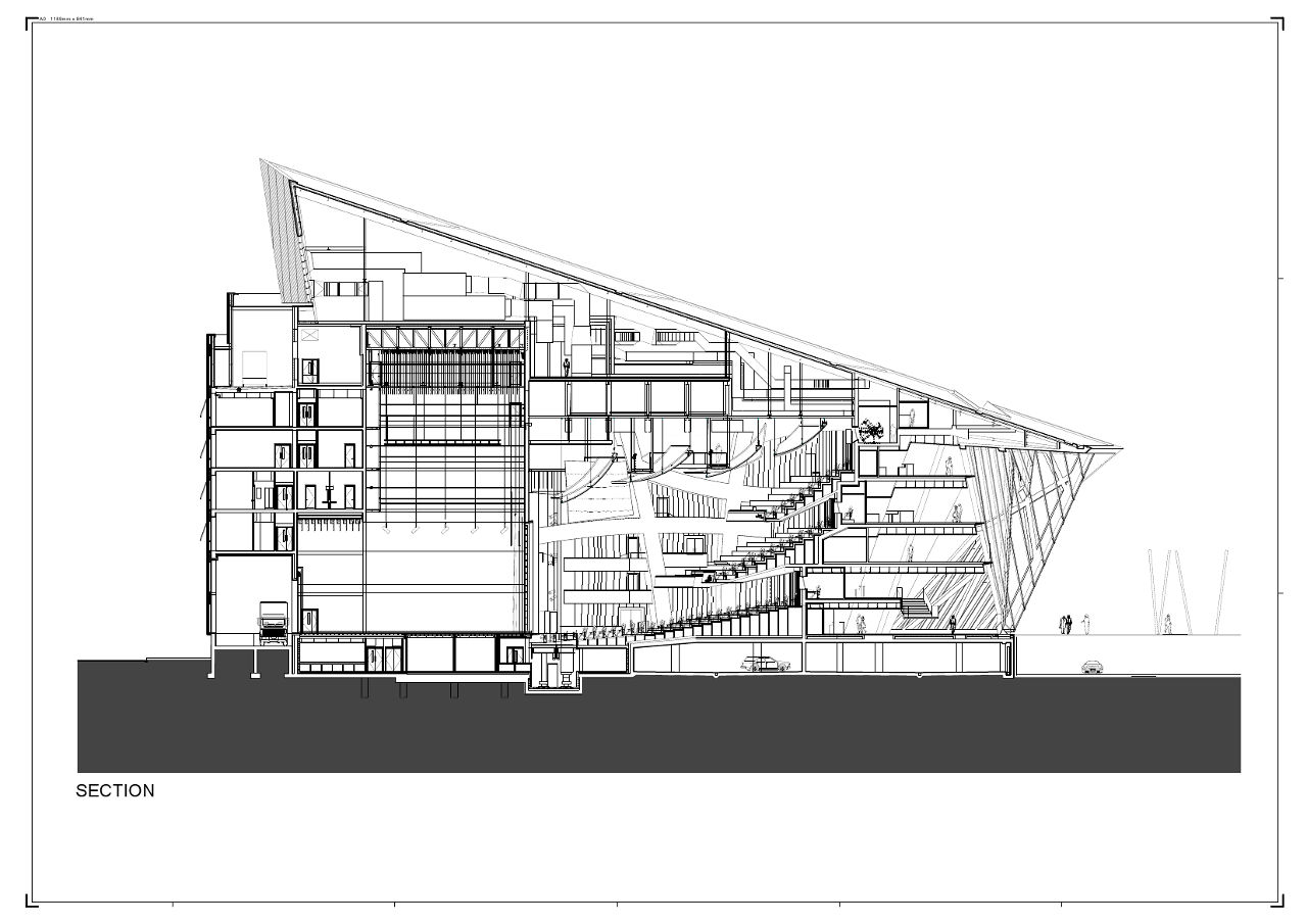 Daniel libeskind s grand canal square theatre drawings sketches