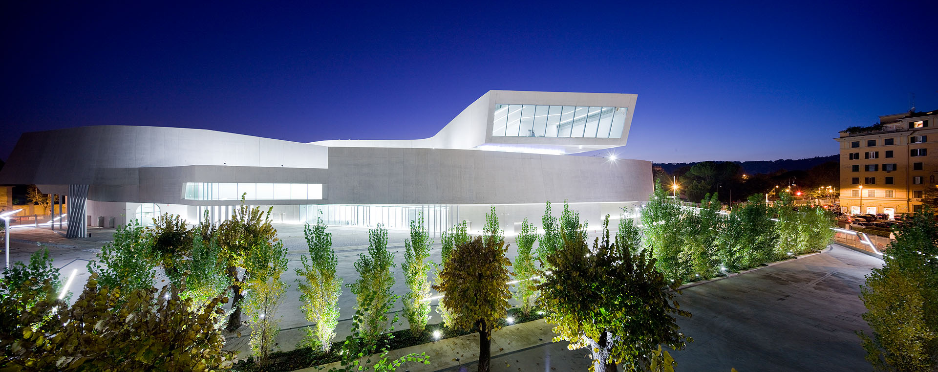 Exterior of Zaha Hadid's MAXXI - National Museum of XXI Century Arts