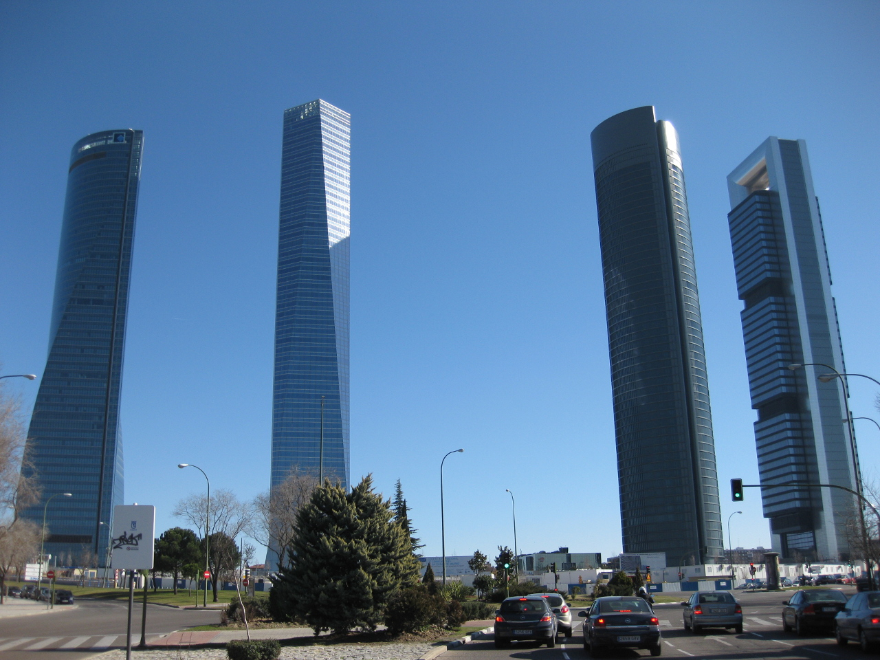 Madrid's Cuatro Torres (Four Towers) Business Area