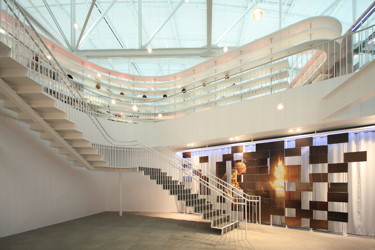 The interior of Performance Capture Studio by Lorcan O'Herlihy Architects (LOHA) and Kanner Architects