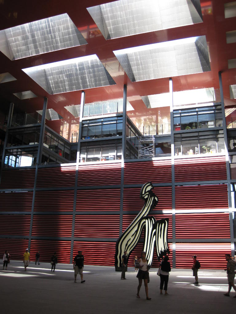 Interior of the Reina Sofia Museum in Madrid, Spain