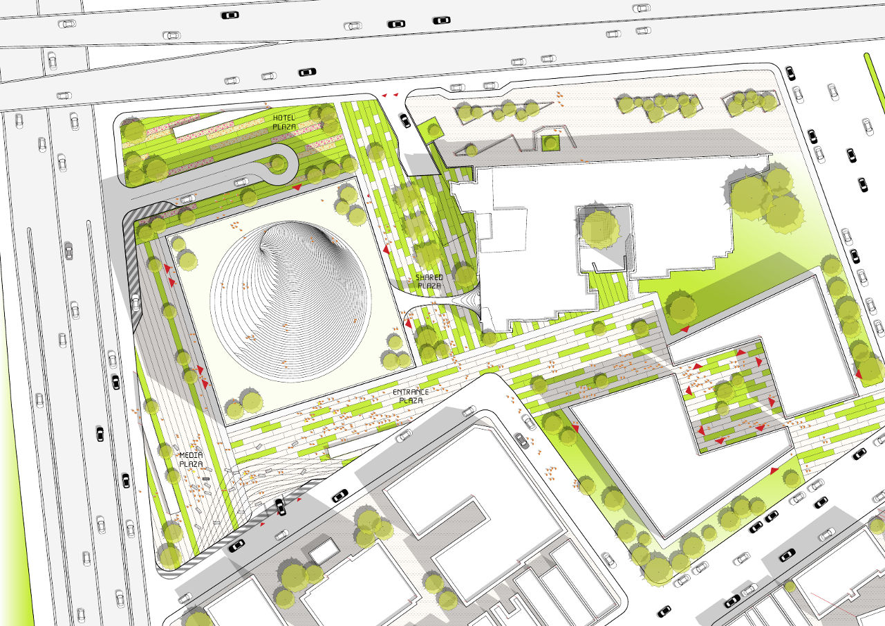 Public space that doesn 39 t suck bjarke ingels group 39 s big for Site plan drawing online