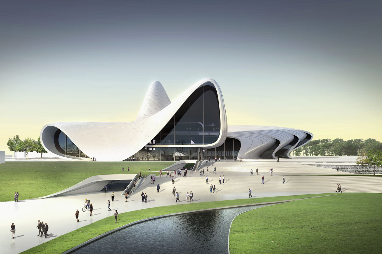 Zaha hadid s heydar aliyev cultural centre turning a vision into reality buildipedia - Architecturen volumes ...