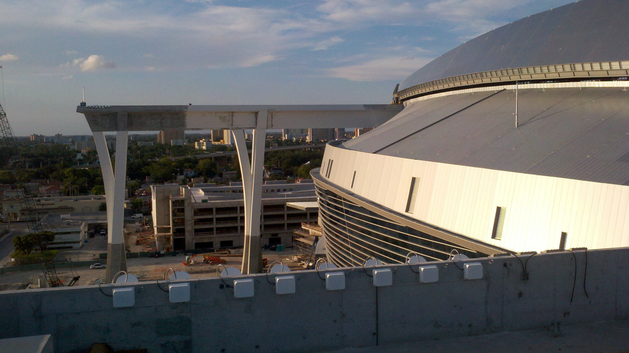 Florida Marlins Stadium roof by Populous