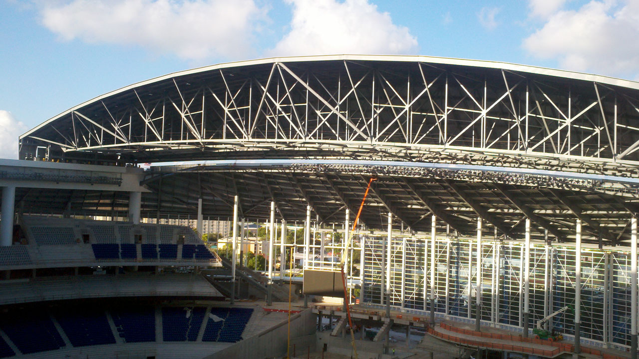 Florida Marlins Stadium construction by Populous