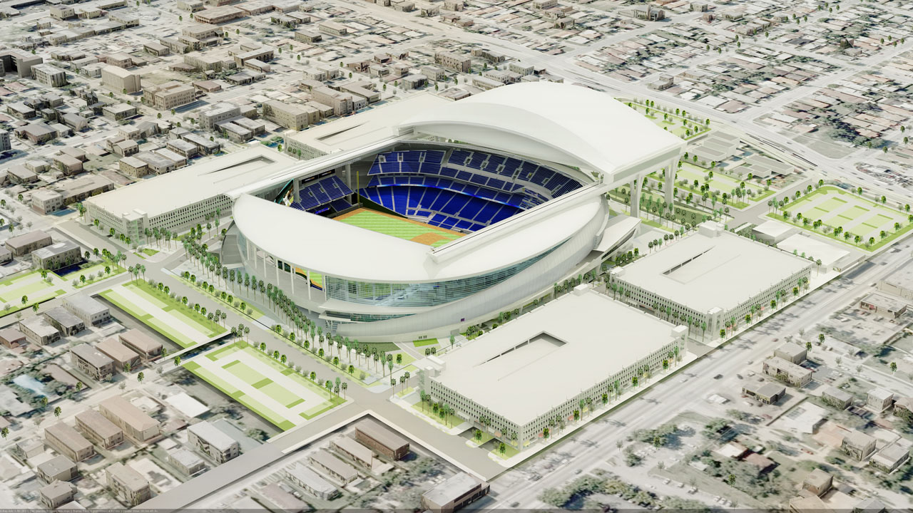Florida Marlins Stadium architectural rendering by Populous