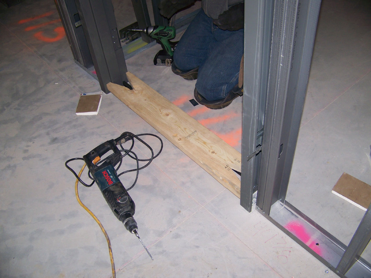 Installing Welded Hollow Metal Door Frames ... & Installing Welded Hollow Metal Door Frames - Buildipedia