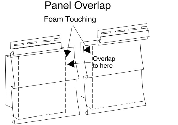 Siding Panel Overlap Diagram