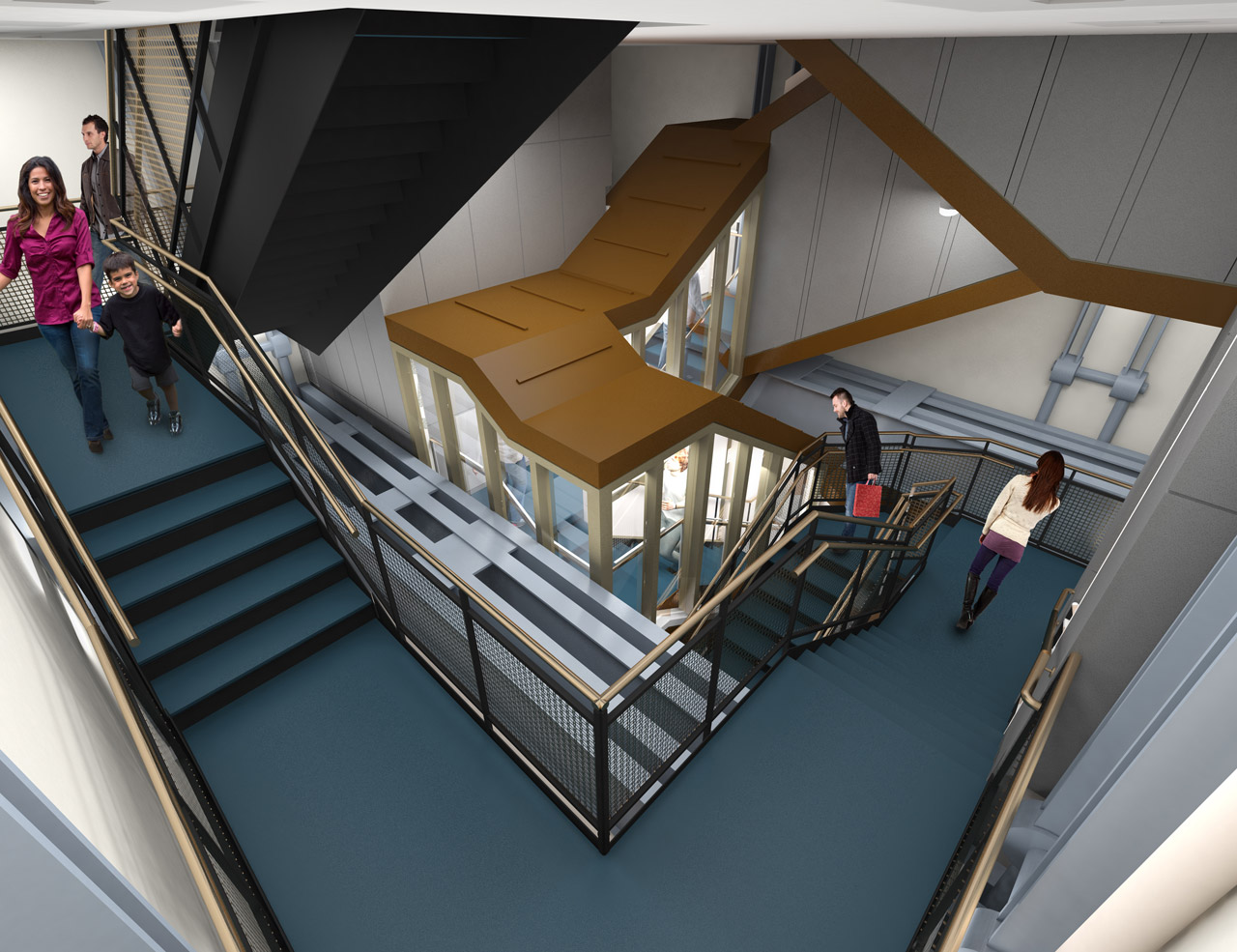 Artists Rendering of Stairs