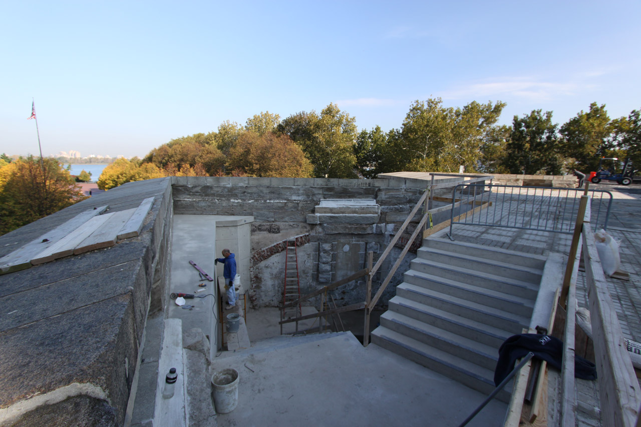 New Egress Stairs from Terreplein Reveal Old Fort Hood Walls