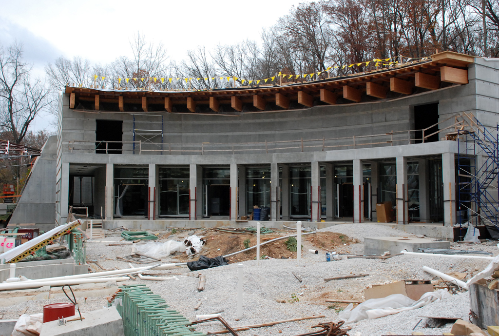 The Moshe Safdie Crystal Bridges Museum of American Art Construction site