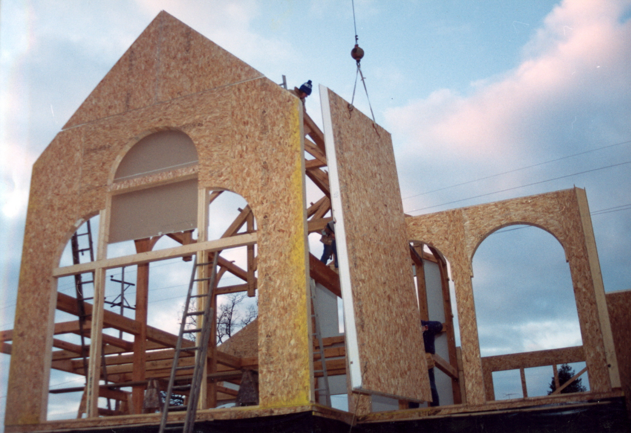 Structural insulated panels vs conventional framing Sip home construction