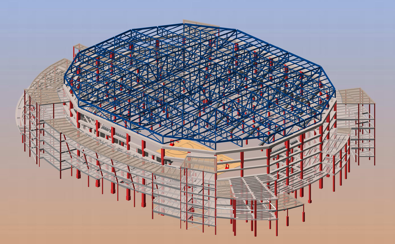 BIM model of Lincoln's West Haymarket Arena