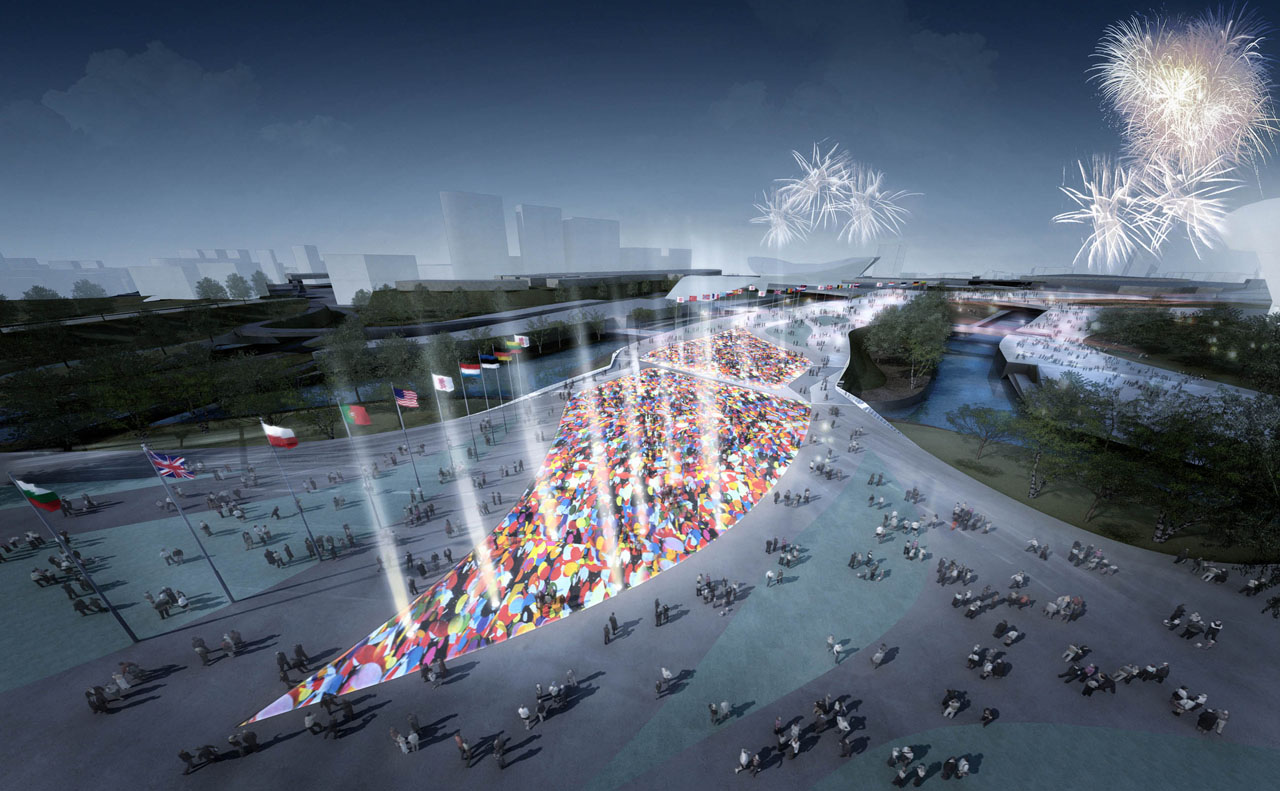 2012 London Olympics Bridges and Infrustructure Rendering