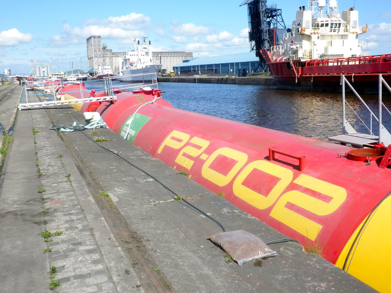 Pelamis Wave Energy Converter Docked