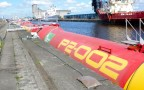 Pelamis Wave Energy At Dock | Credit - Department Of Energy And Climate Change